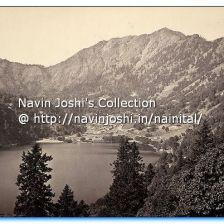 1865 Nainital from Tallital side