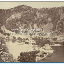 1875-Nainital before landslide