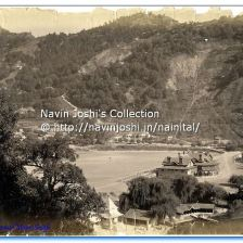 1885 (approx). Newly constructed Naina Devi Temple, and the Assembly Hall