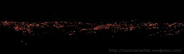 रोशनियों में जगमगाता अल्मोड़ा दीपावली की रात