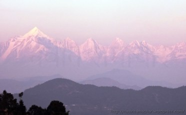 Glittring Panchachuli at Sunset from Gangolihat