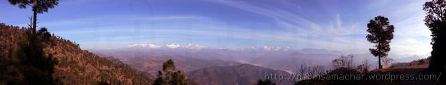 Himalaya from on the way Patal Bhuvneshwar1