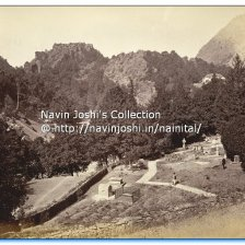 The cemetery at the Church of St John-in-the-Wilderness in Nainital , photo taken by John Edward Saché in the 1860s