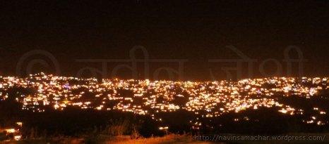 दीपावली पर रोशनी में दमकता अल्मोड़ा शहर