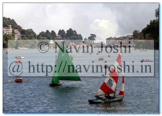 Colorful Yachts in Naini Lake