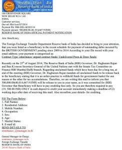 RBI Letter