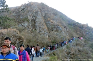 छोटा कैलास पर्वत में महाशिवरात्रि को उमड़ा आस्था का सैलाब