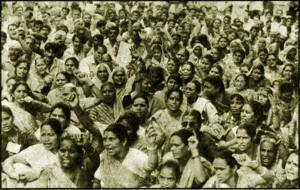 उत्तराखण्ड आन्दोलन में महिलाओं की उमड़ी भीड़