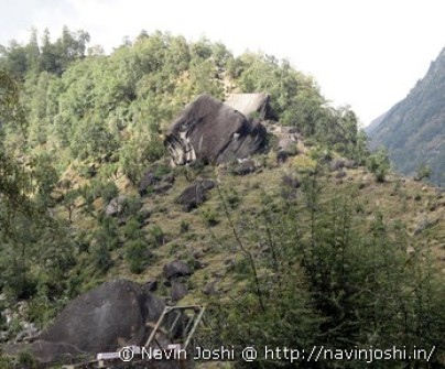 Tiger Stone Near Birthi on Munsyari Rout