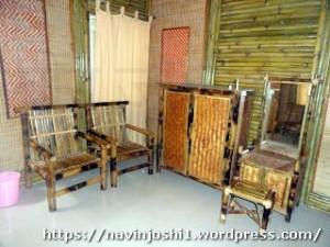 Interior of Bamboo Huts at Maheshkhan