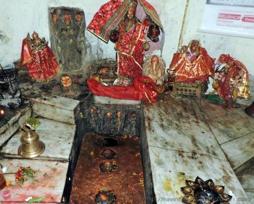 माता भद्रकाली के मंदिर का गर्भगृह