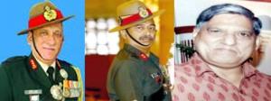 लेफ्टिनेंट जनरल बिपिन रावत, लेफ्टिनेंट जनरल अनिल कुमार भट्ट और आईपीएस अधिकारी अनिल धस्माना